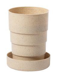 Bambuszrost pohár karabinerrel