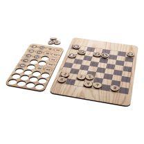 Fából készült sakktábla