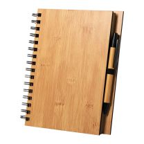 Környezetbarát jegyzetfüzet bambusz borítással