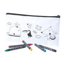 Színezhető tolltartó gyerekeknek