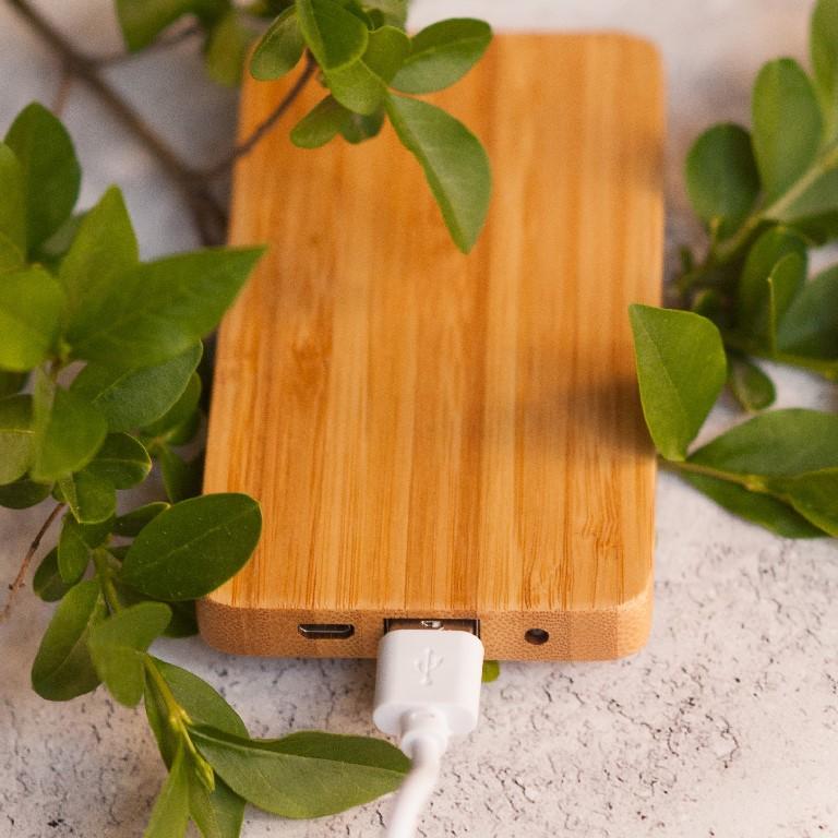 Bambusz környezetbarát power bank