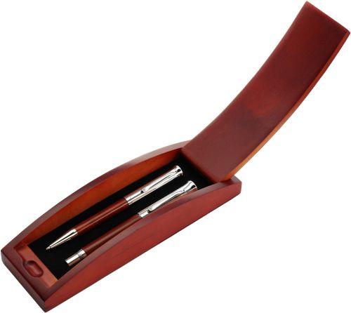 logózható rózsafa tollkészlet